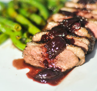 Seared Duck Breast with a Berry-Port Sauce